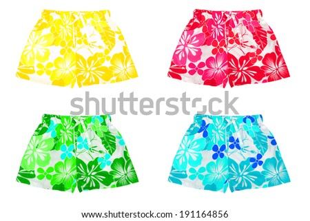 Set of shorts and swimming trunks  - stock photo