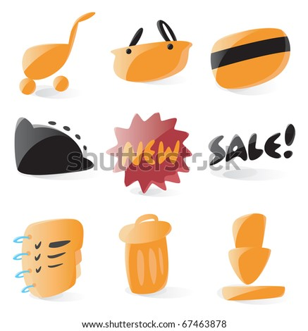 Set of smooth and glossy online shop icons. Raster version. For vector version of this image, see my portfolio.