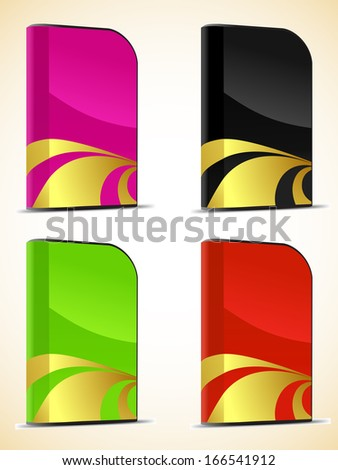 Set of software boxes - stock photo