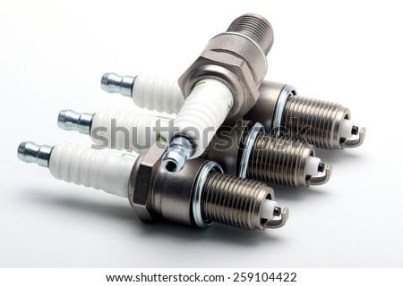 set of spark plug - stock photo
