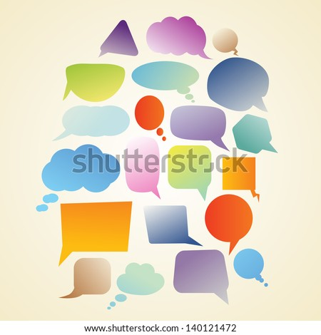 set of speech bubbles - stock photo