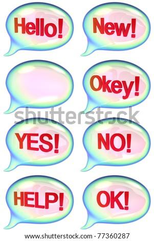 Set of speech bubbles. - stock photo