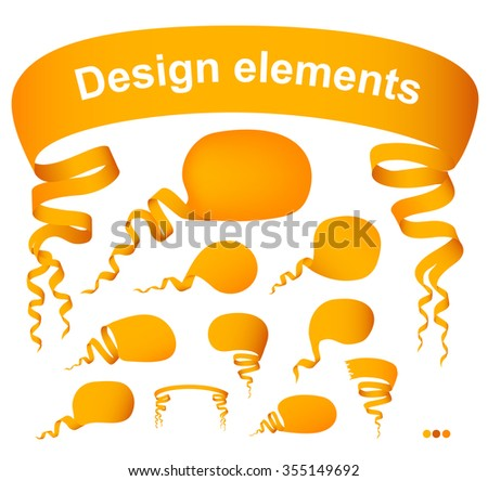 Set of speech bubbles, design elements