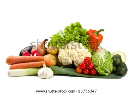 Set of summer vegetables - stock photo