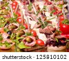 Set of tasty canape for an event party - stock photo