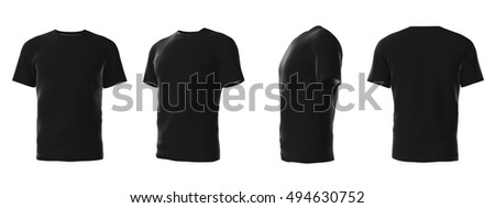 Set Template Males Tshirts Different Angles Stock Illustration ...
