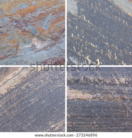 Set of textures different stone background collection - stock photo