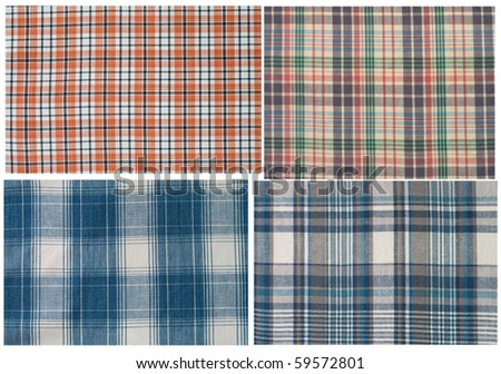 set of textures fabrics - stock photo