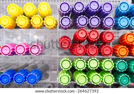 Set of the felt-tip markers - stock photo
