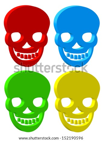 Set of the skull icons