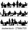 Set of three foreground silhouettes. Vector file also available. - stock vector