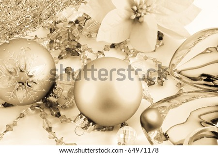 set of toys for Christmas trees - stock photo