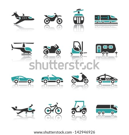 Set of transport icons - Two. Rasterized versions (copy) - stock photo