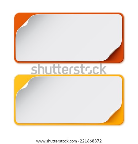 Set of two colorful banners