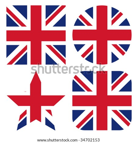 set of uk flags
