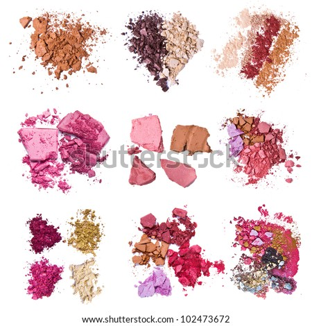 set of various crushed eyeshadows