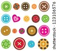 set of various sewing buttons. Raster version - stock vector