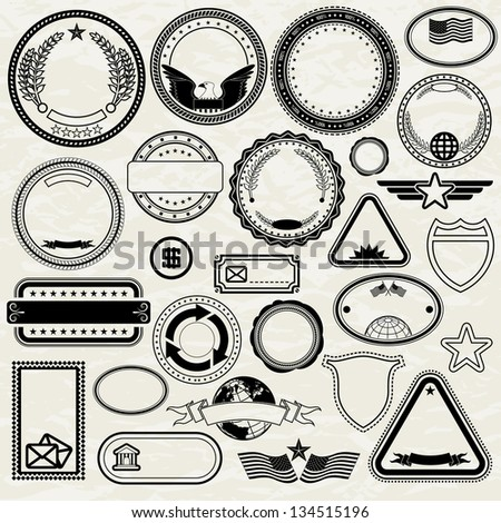 Set of Various Stamps. Design Templates