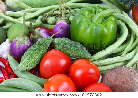 set of vegetable, healthy concept