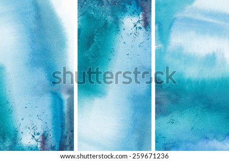 """Set of watercolor abstract hand painted backgrounds Album""""Sets of water color backgrounds for your advertizing"""" - stock photo"""