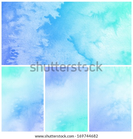 Set of Watercolor Background.