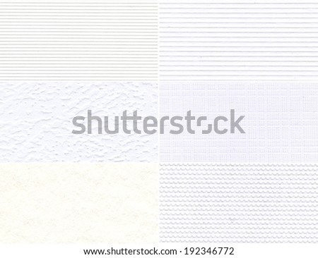 Set of white high-resolution textures for background.