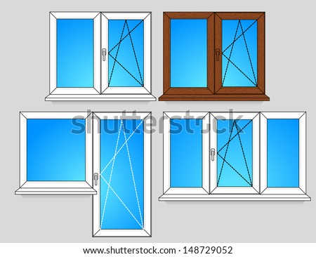 Set of window templates with opening scheme