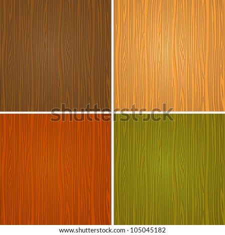 Set of wooden textures.Raster version
