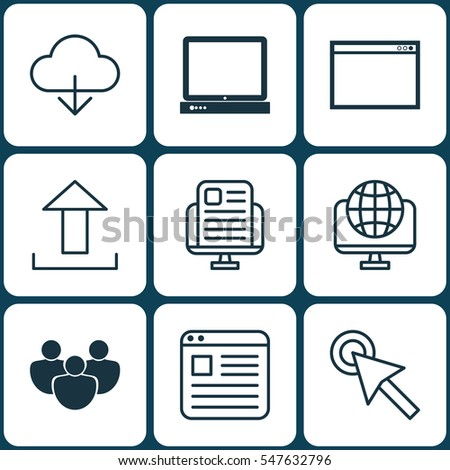 Set 9 World Wide Web Icons Stock Vector 541514503 Shutterstock