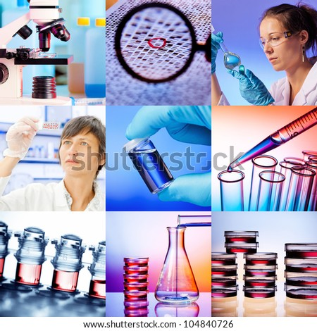 Set  research, laboratory,  science and genetics
