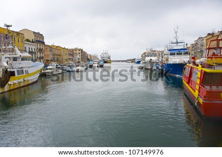 Set, the fishing port city in the south of France