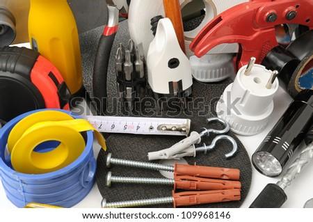 set tools - stock photo