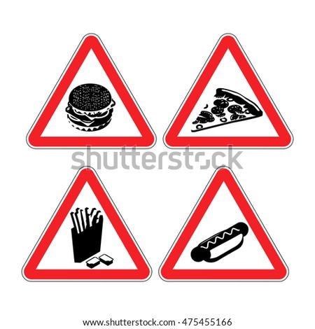 Warning Sign Attention Fast Food Dangers Stock Vector. Homesick Signs Of Stroke. Inequality Signs. Power Signs. Lrti Signs. Swollen Feet Signs. Bloody Mucus Signs. Report Signs. Burnout Signs
