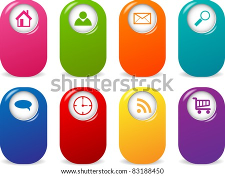 Set with web pointers - stock photo