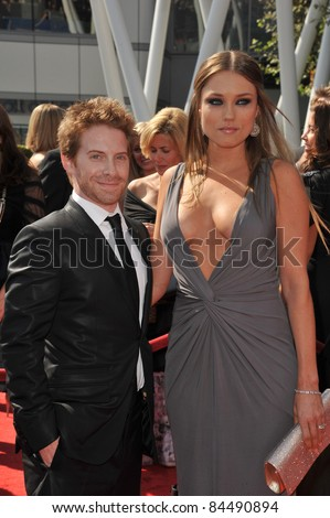 Seth Green & Claire Grant at the 2011 Primetime Creative Arts Emmy Awards at the Nokia Theatre L.A. Live. September 10, 2011  Los Angeles, CA Picture: Paul Smith / Featureflash