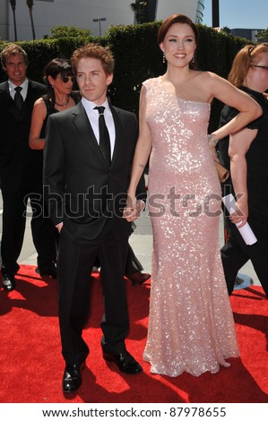 Seth Green & Clare Grant at the 2010 Creative Arts Emmy Awards at the Nokia Theatre L.A. Live. August 21, 2010  Los Angeles, CA Picture: Paul Smith / Featureflash