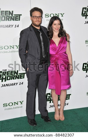 "Seth Rogen & Lauren Miller at the Los Angeles premiere of his new movie ""The Green Hornet"" at Grauman's Chinese Theatre, Hollywood. January 10, 2011  Los Angeles, CA Picture: Paul Smith / Featureflash"