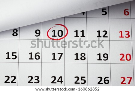 Setting a date - stock photo
