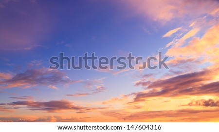 Setting Sun Burning Skies  - stock photo