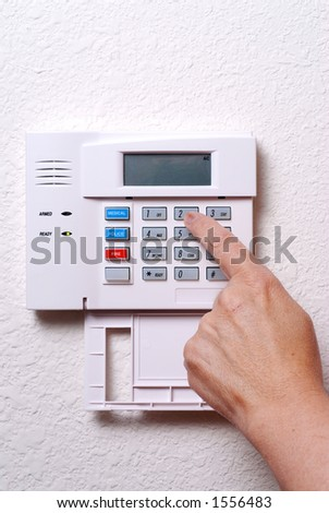 Setting the Alarm System (Vertical/Portrait) - stock photo