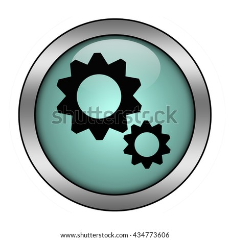 Settings button isolated - stock photo