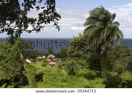 Settlement on Isla Ometepe in Nicaragua - stock photo