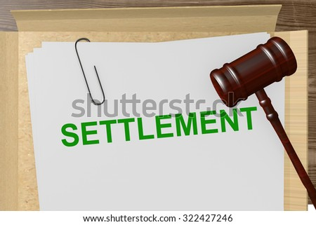 Settlement Title On Legal Documents - stock photo