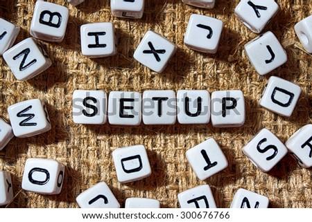 SETUP word on white blocks concept - stock photo