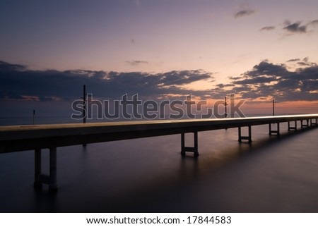 seven mile bridge - florida keys - stock photo