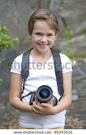 seven year old girl who used an SLR