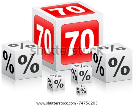 seventy percent discount - stock photo