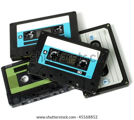 Several audio cassettes isolated