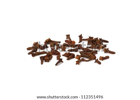 Several cloves isolated on white background close-up