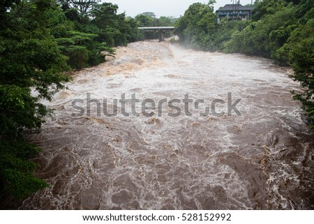 Several days of torrential rainfall transformed the Wailuku River, usually a relatively calm little creek flowing through Hilo, into a raging monster